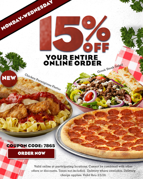 This is an image of Astounding Papa Ginos Printable Coupons